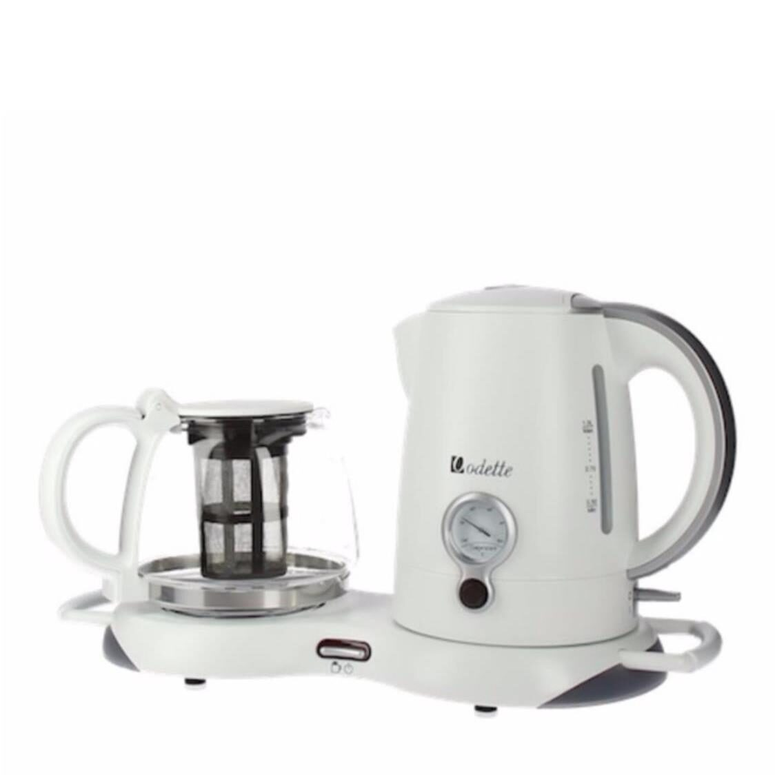 Odette Electric Kettle with Keep Warm Tea Tray White WK8287TR