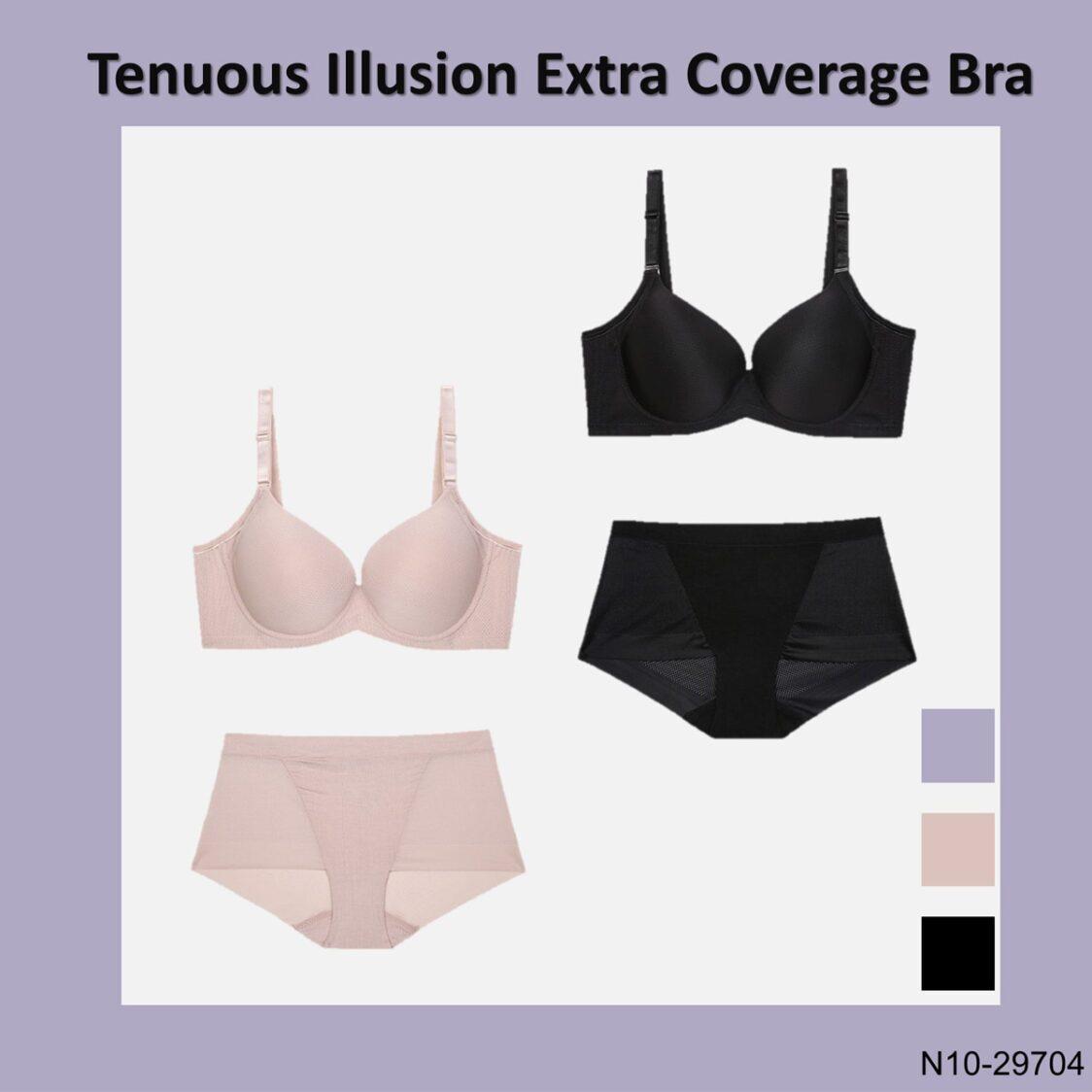 Tenuous Illusion Extra Coverage Bra N10-29704BLK Black
