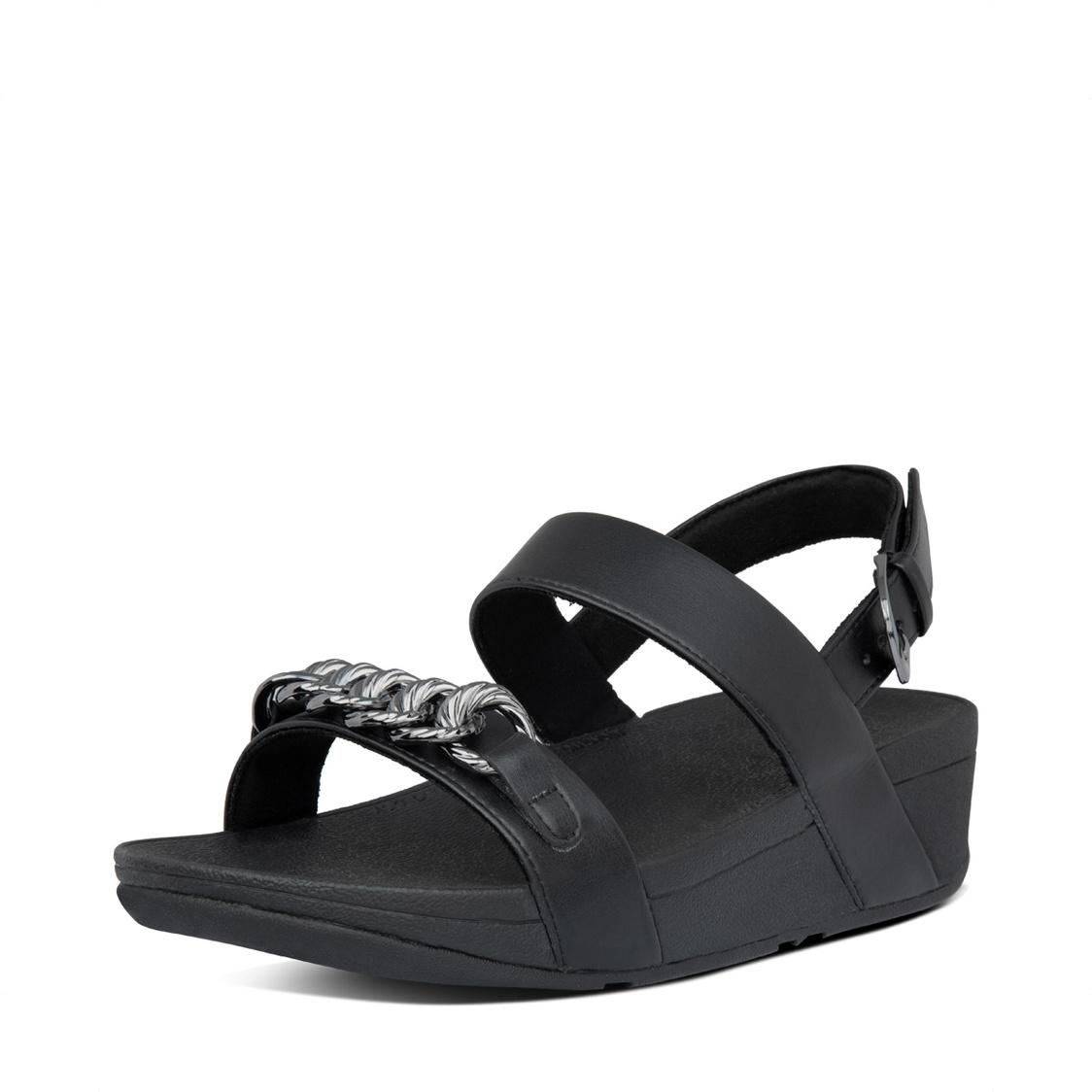 FitFlop Lottie Chain Back-Strap Sandals All Black