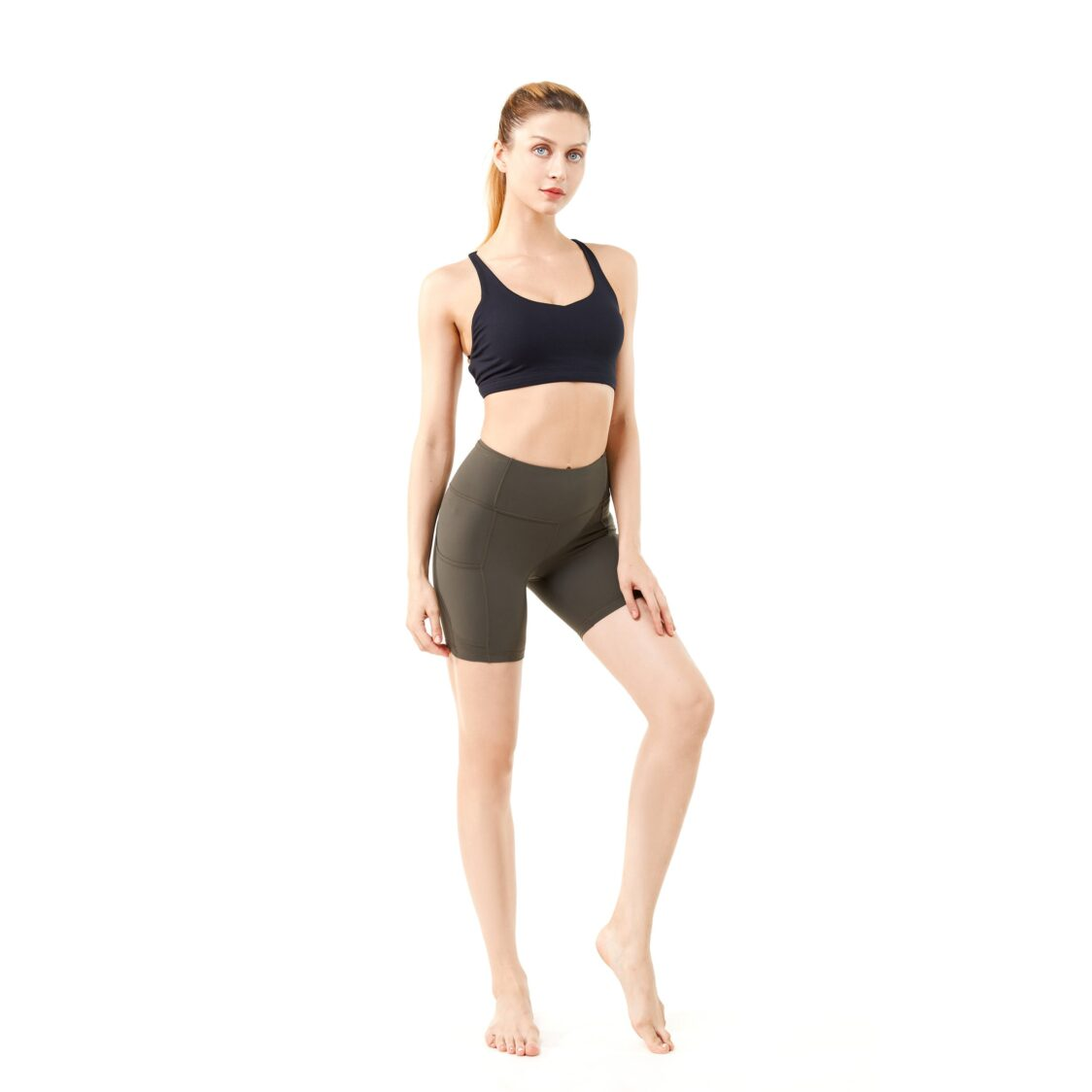 YOF Athletica Runner Shorts 6In Army Green