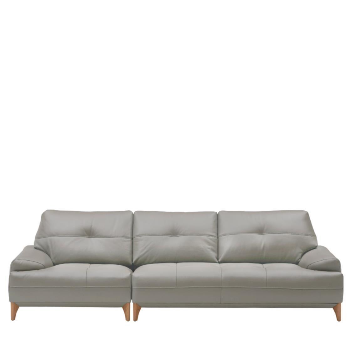 Iloom Boston Leather Sofa For 4  L391C Cloud