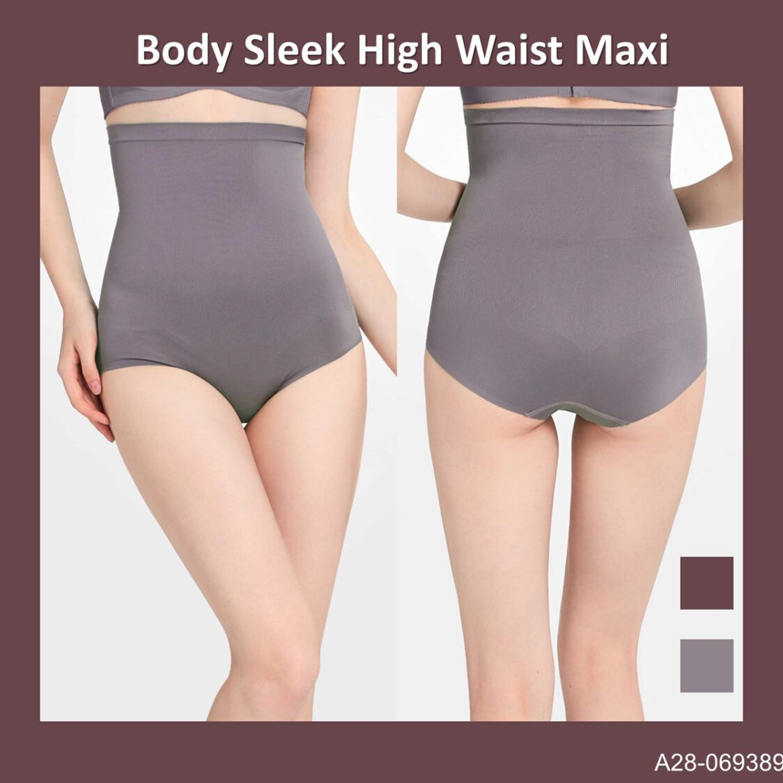 Body Sleek High Waist Maxi A28-069389GRY Grey