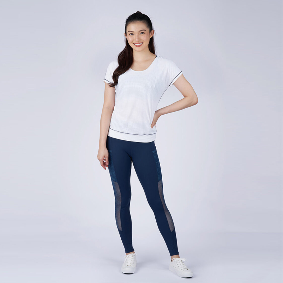 Yumi Active Stay Cool Sleeve Top Pure White