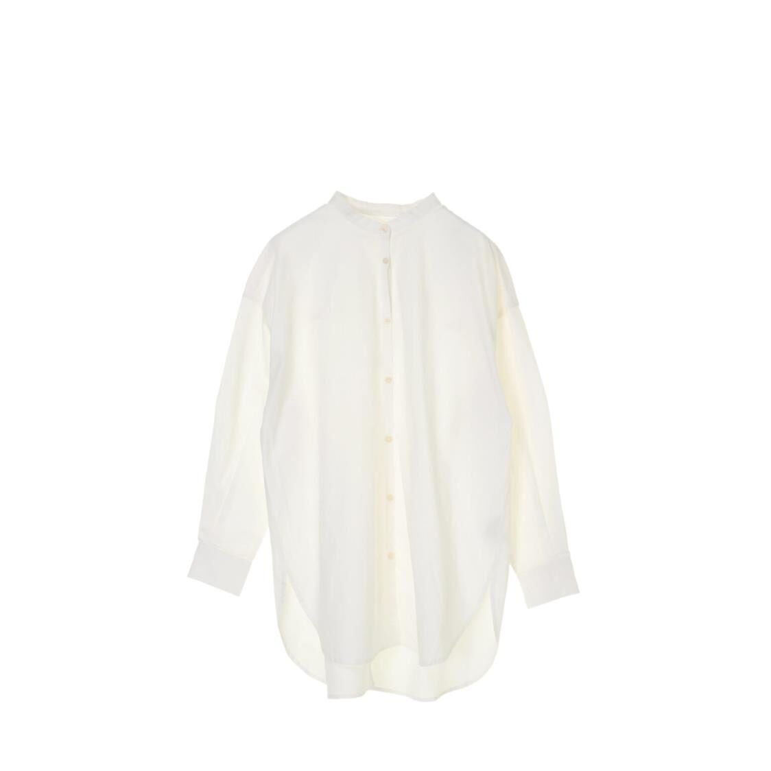 Green Parks Back Slit Tunic Shirt Off White