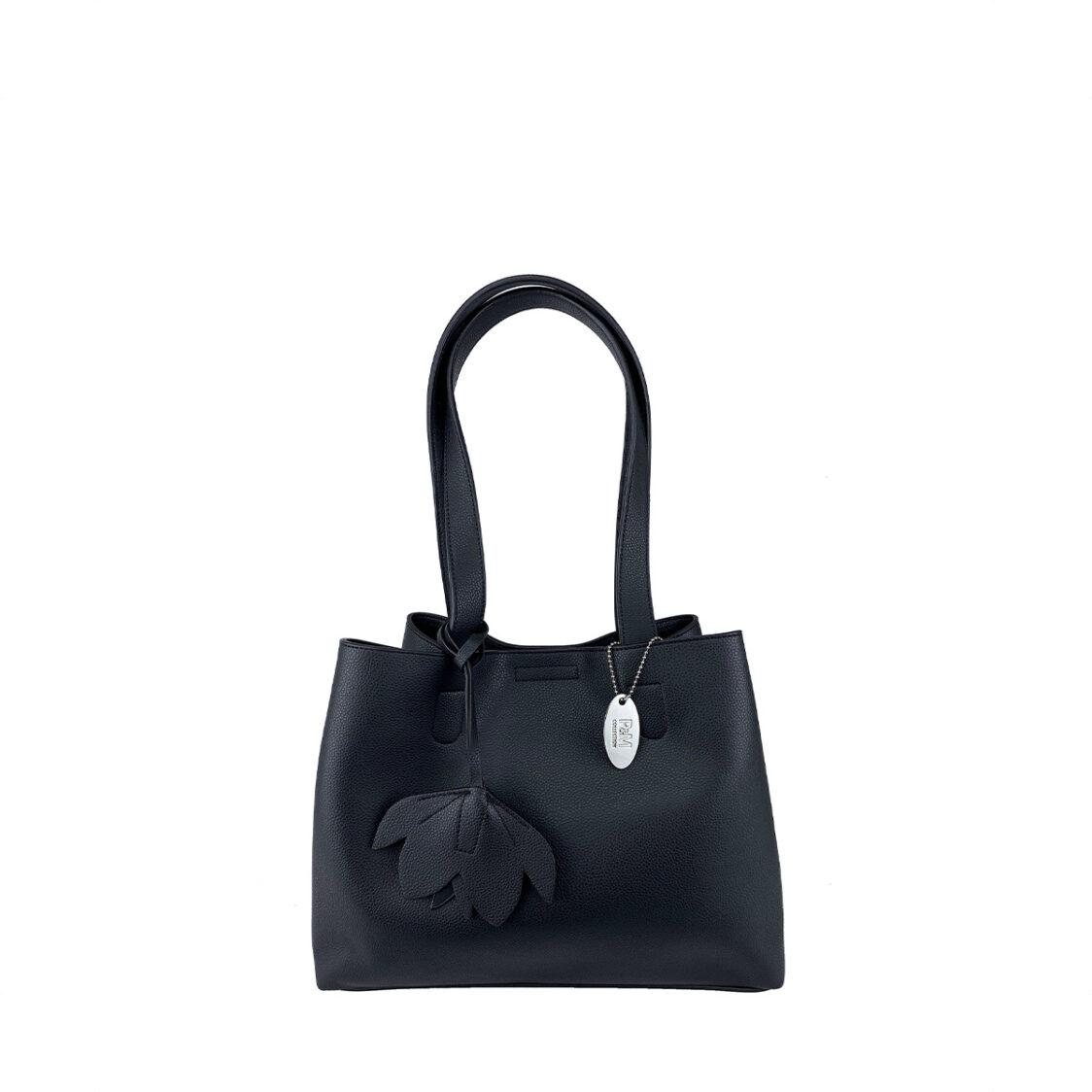 Perllini  Mel Double Handle Shoulder Bag Black