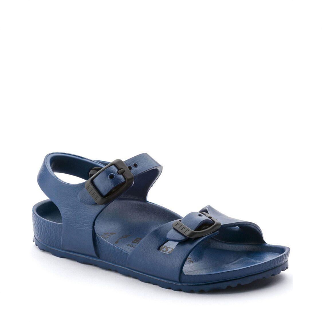Birkenstock Rio Essential EVA Kids Narrow Width Sandals in Navy