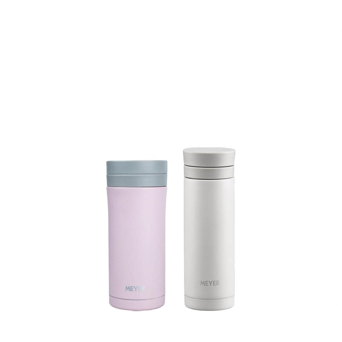 Meyer 250ml Vacuum Mug Light Beige  330ml Vacuum Flask Light Pink