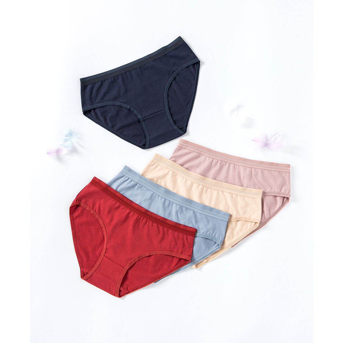 Young Hearts Velvet Warm Cotton 5-pack Midi Panties Mix Y20-B00602