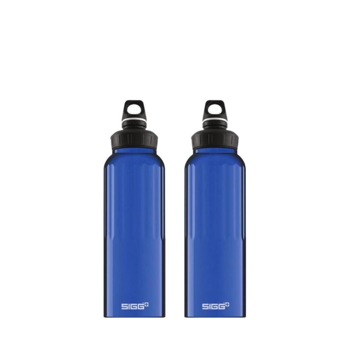 Sigg 2-pc Set 15L Traveller Wide Mouth Water Bottle - Blue 852610 x 2