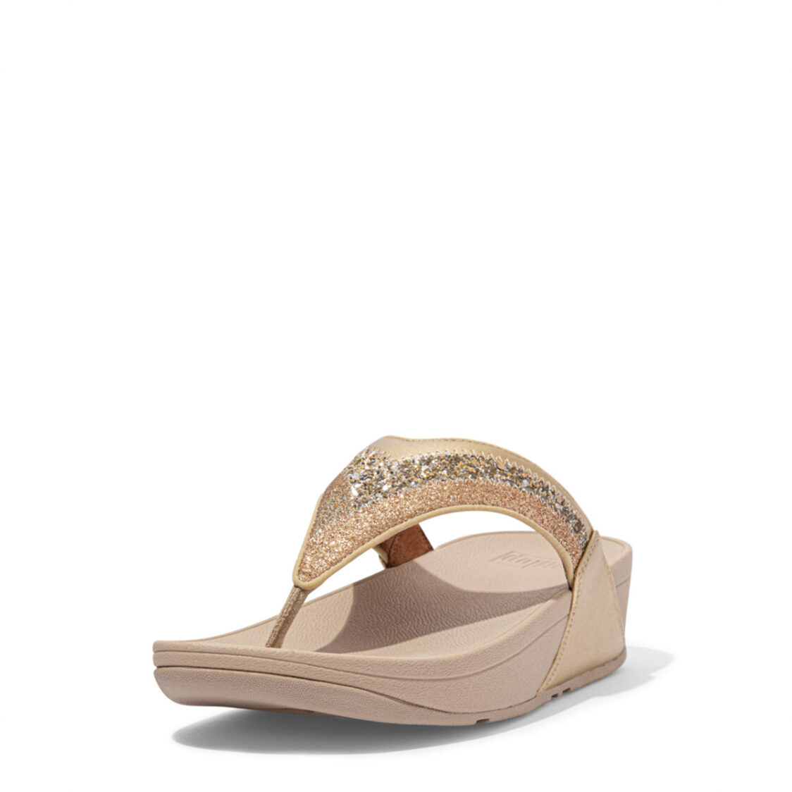 Fitflop Lulu Ombre Glitter Toe-Post Sandals Gold Dl2-010
