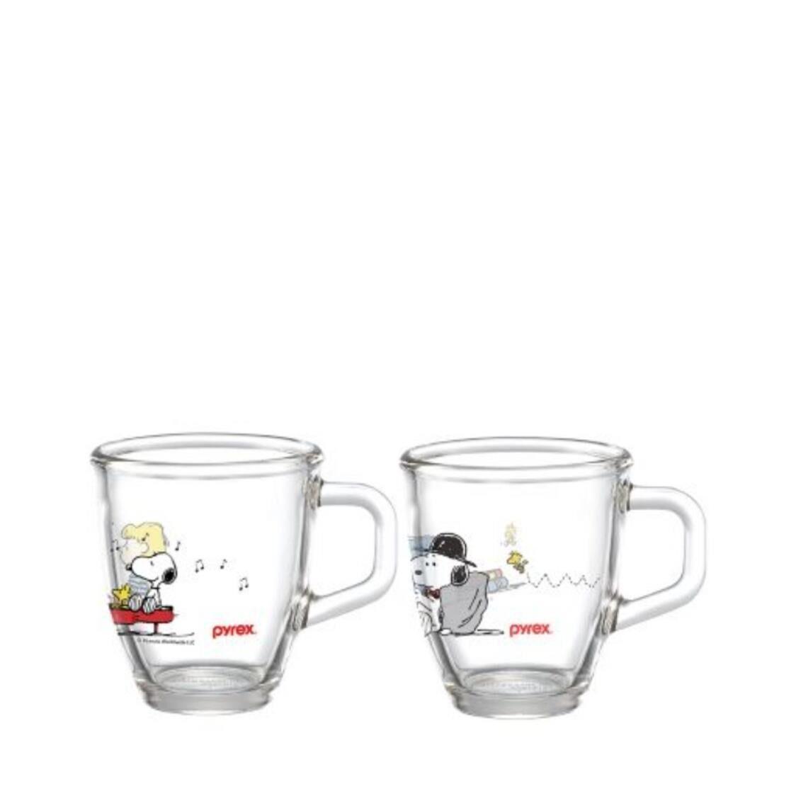 Pyrex Mug Set 2pc 375ml - Snoopy Colourful