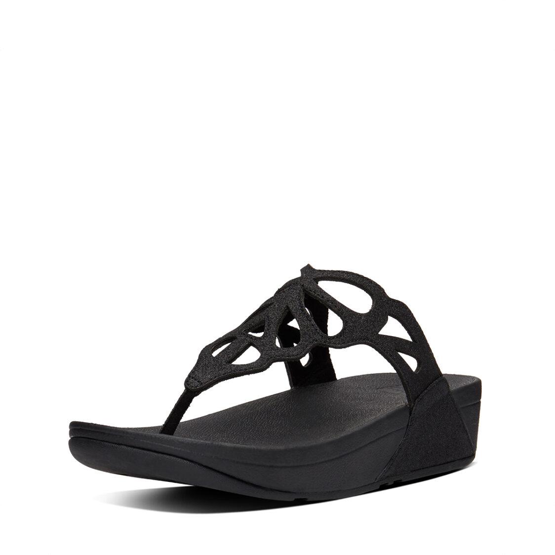 Fitflop Bumble Glitter Toe-Thongs Black