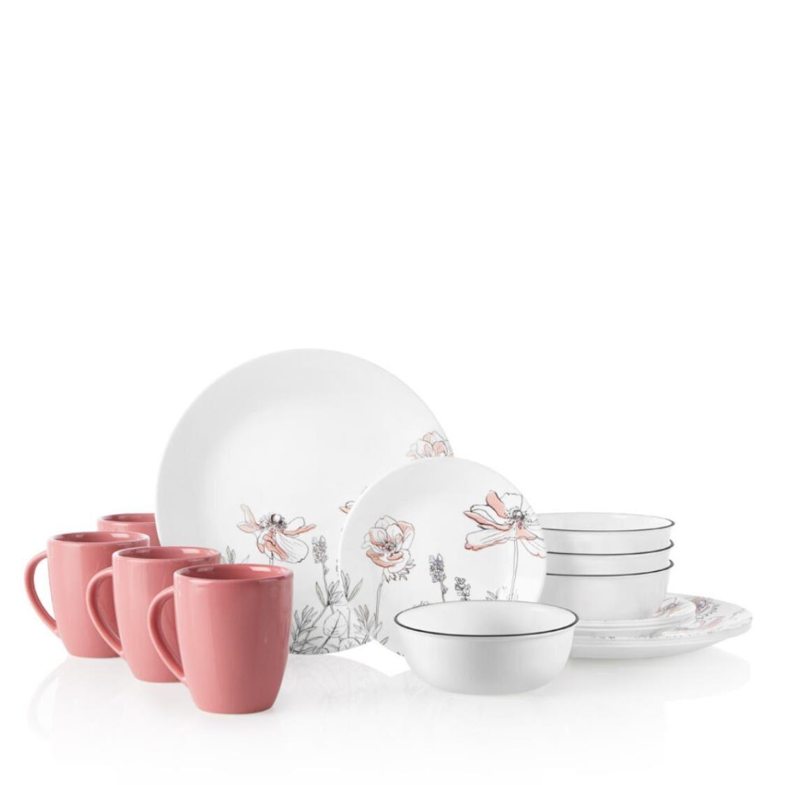 Corelle 16pc Dinner Set - Poppy Print 1137501