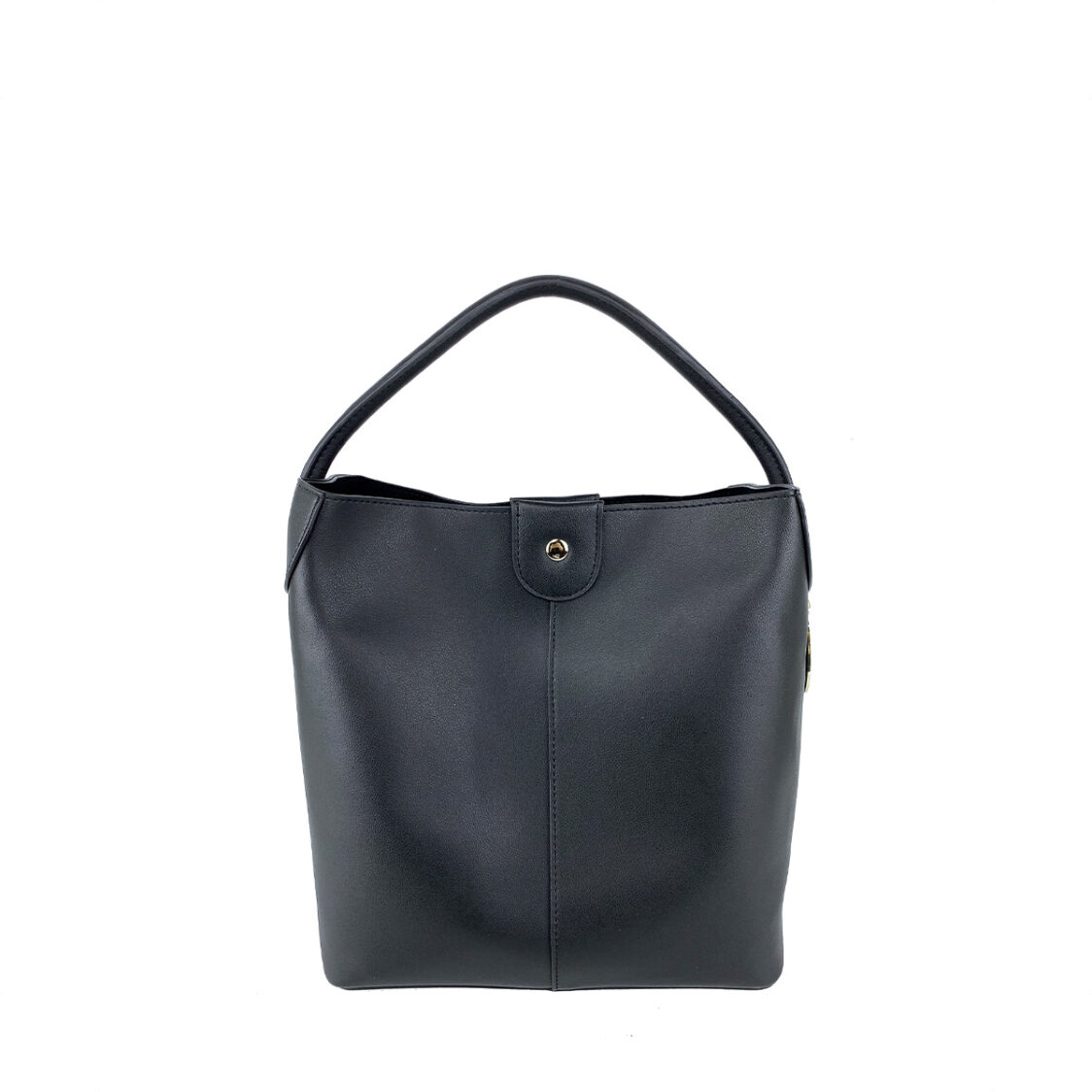 Perllini  Mel Bucket Sling Bag With Removable Pouch Black PY9919-Blk