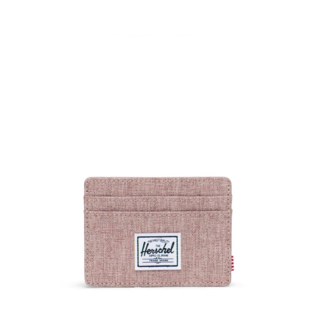 Herschel Charlie Ash Rose Crosshatch Card Holder 10360-04885-OS