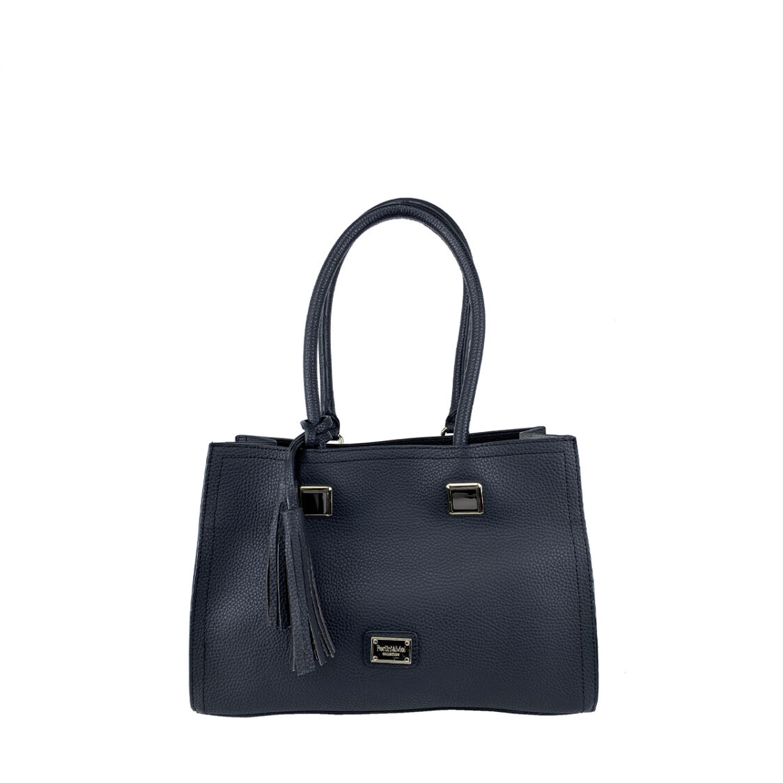 Perllini  Mel Tassel Accent Double Handle Bag Black