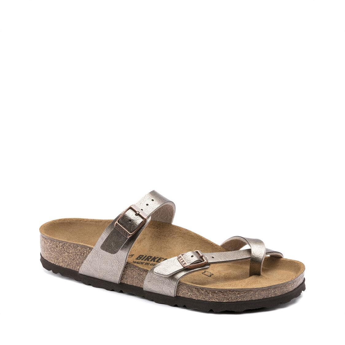 Birkenstock Mayari Birko-Flor Womens Regular Width Sandals Graceful Taupe