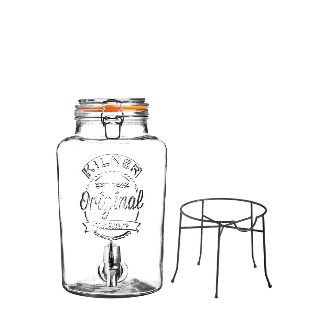 Kilner Drink Dispenser 5L with Dispenser Round Stand