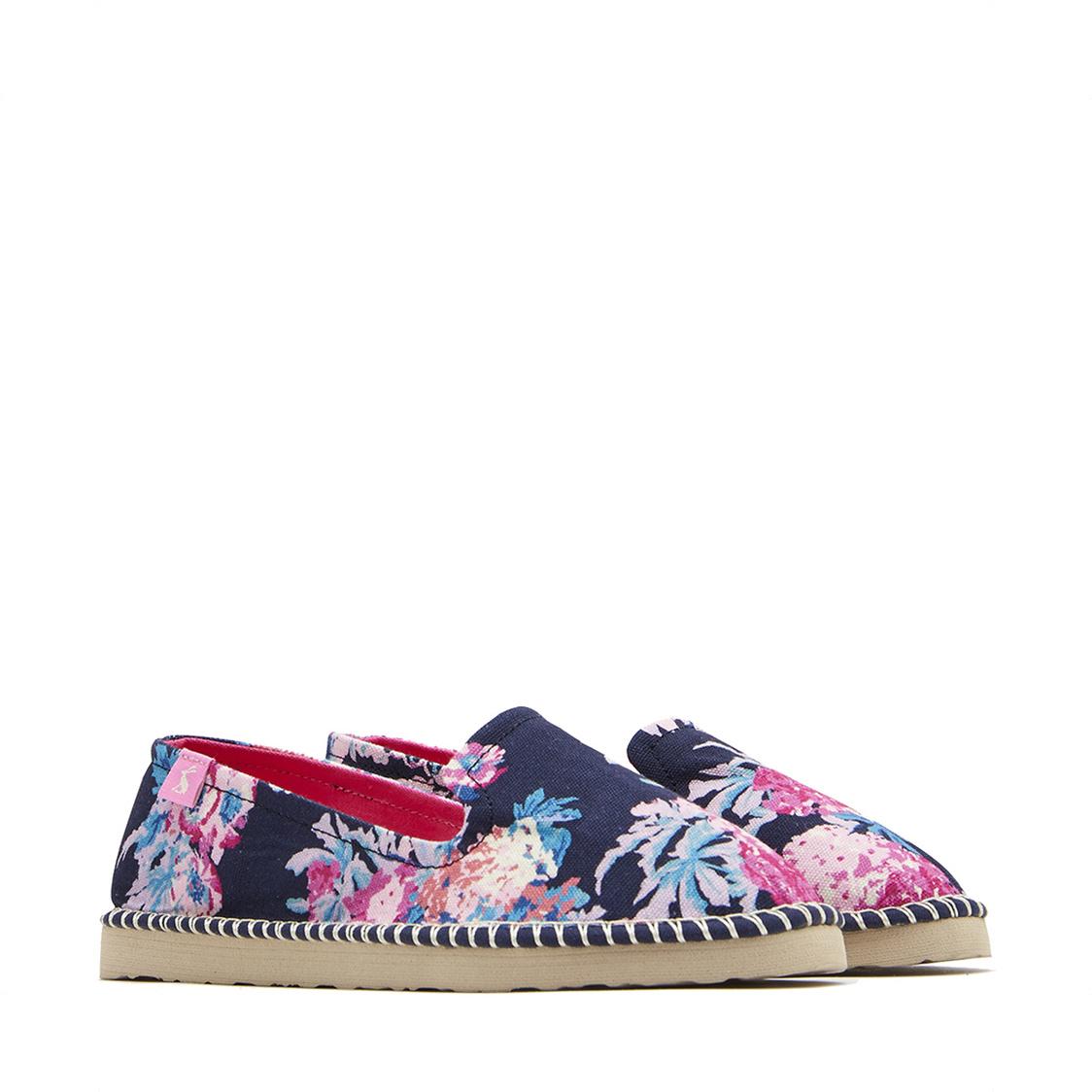 Tom Joule Flipadrille Lightweight Summer Shoe Dark Blue Floral