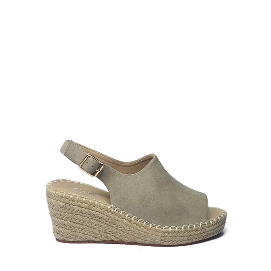 Tracce Comfort Wedge Sandals in Grey AMN5304GY