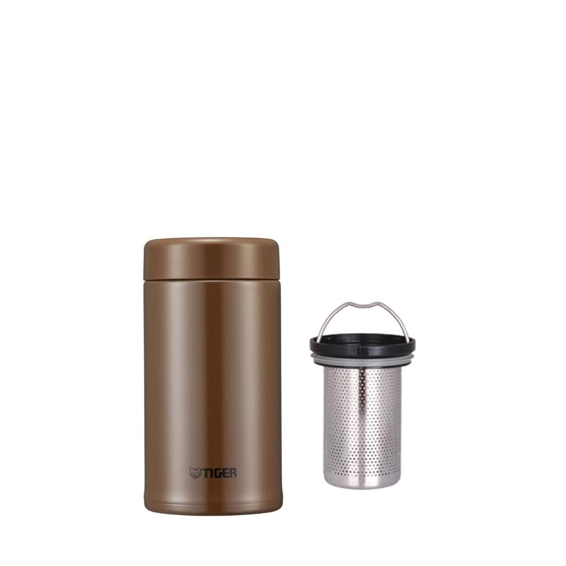 Tiger 360ml Stainless Steel Mug with Tea Strainer - Brown MCA-T360 TI