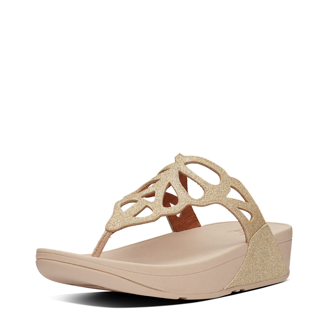 Fitflop Bumble Glitter Toe-Thongs Vintage Gold