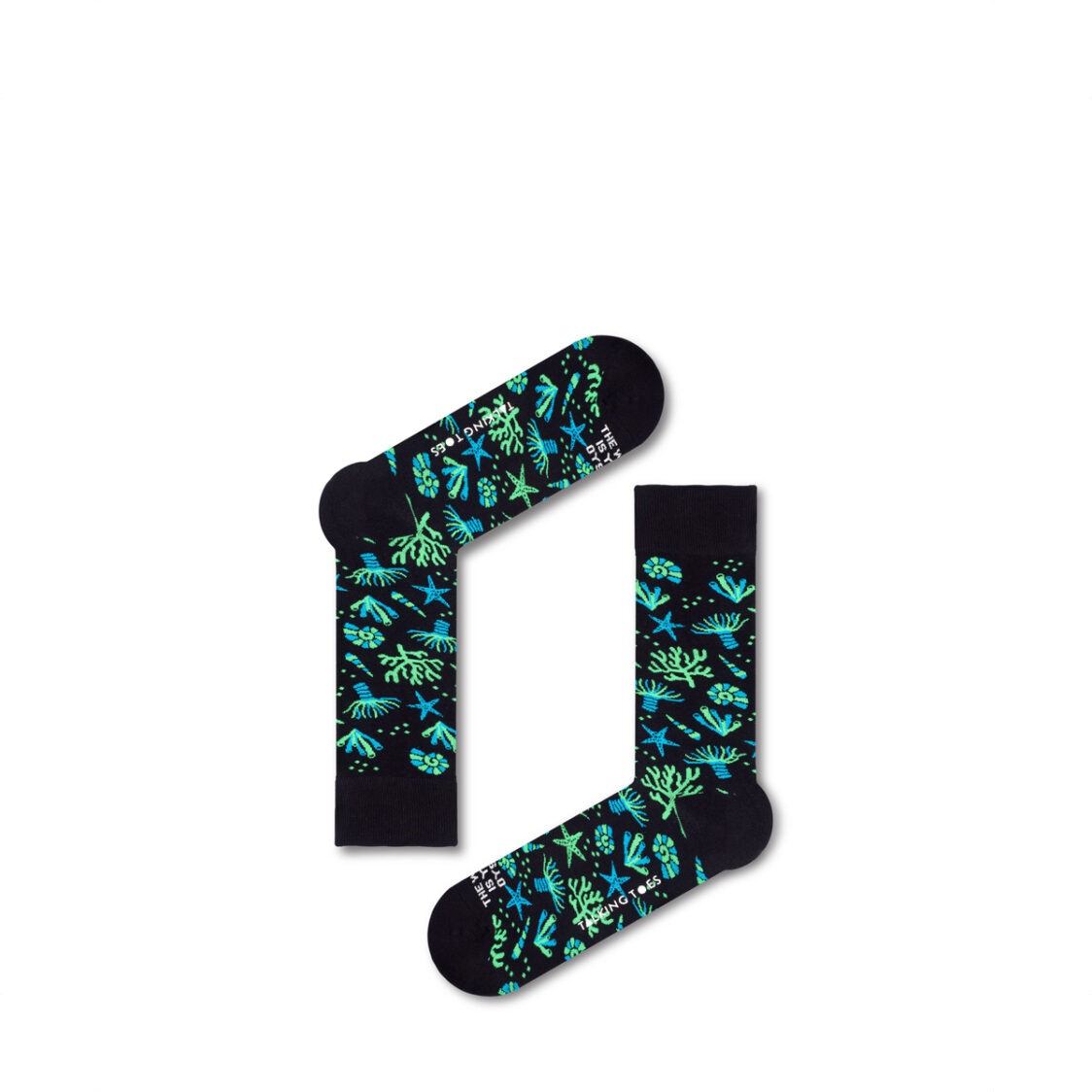 Talking Toes The World is Your Oyster Black Coral Socks