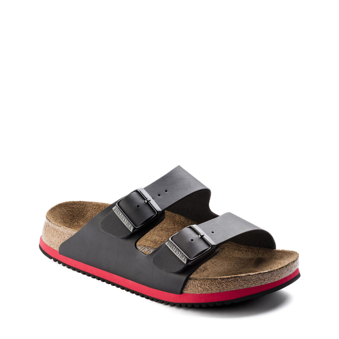 Birkenstock Arizona Super Grip Birko-Flor Unisex Regular Width Sandals Black