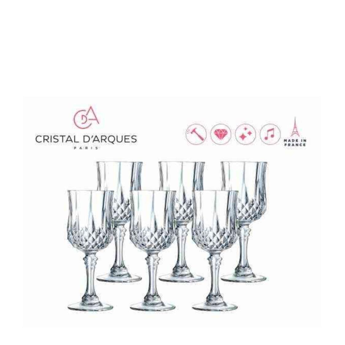 Cristal D Arques Longchamp 6pc 17cl Stemglass Set L7552
