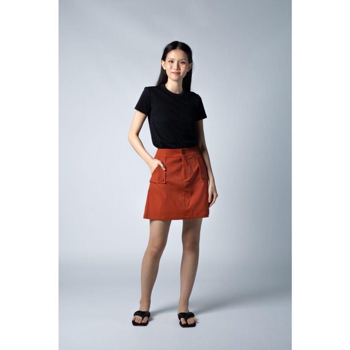 Marissa Skort With Pockets - Rust