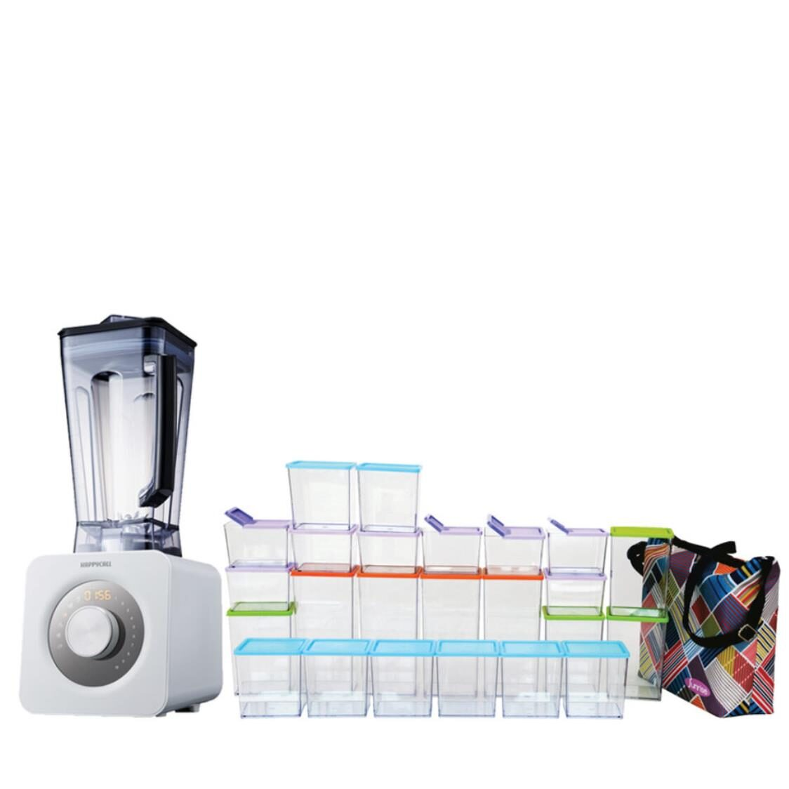 Happycall Axlerim Z Ultimate High Speed Power Blender White Made In Korea  Sunrise 49-pc Set Incl Freezer Bag Made In Korea Worth 299