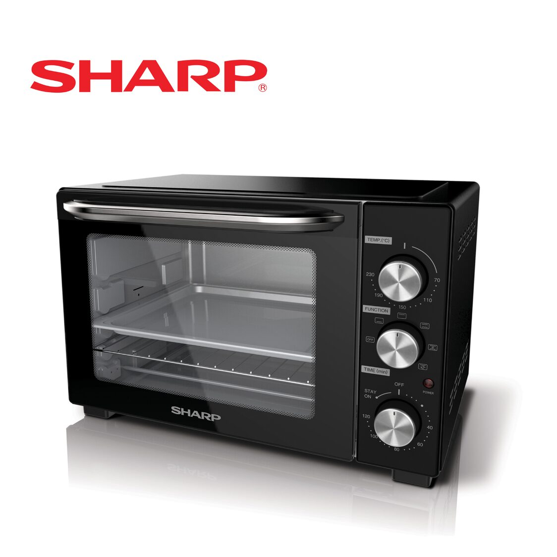 Sharp 32L Electric Oven With Rotisserie Fork And Convection EO-327R-BK