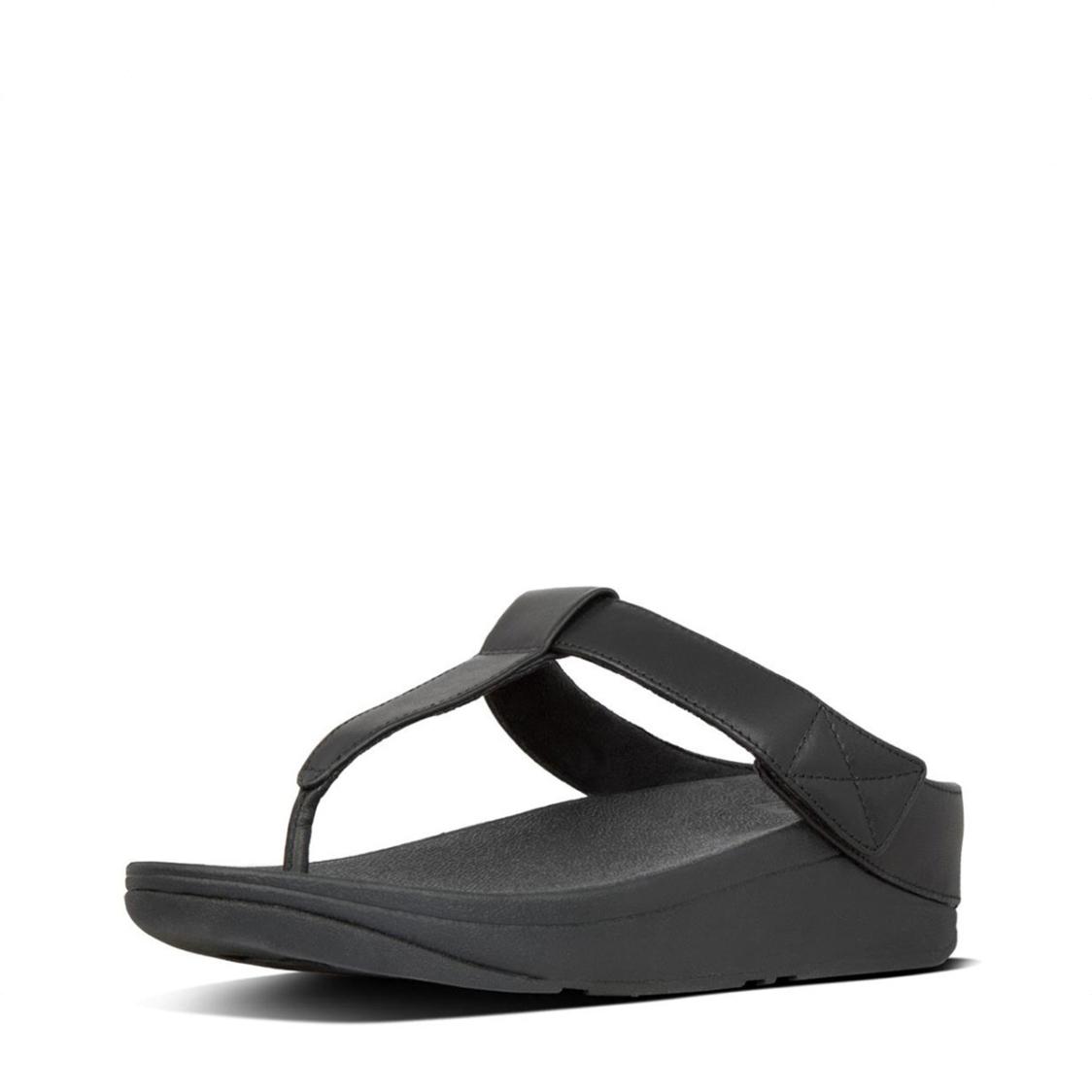Fitflop Mina Toe Thongs All Black X19-090