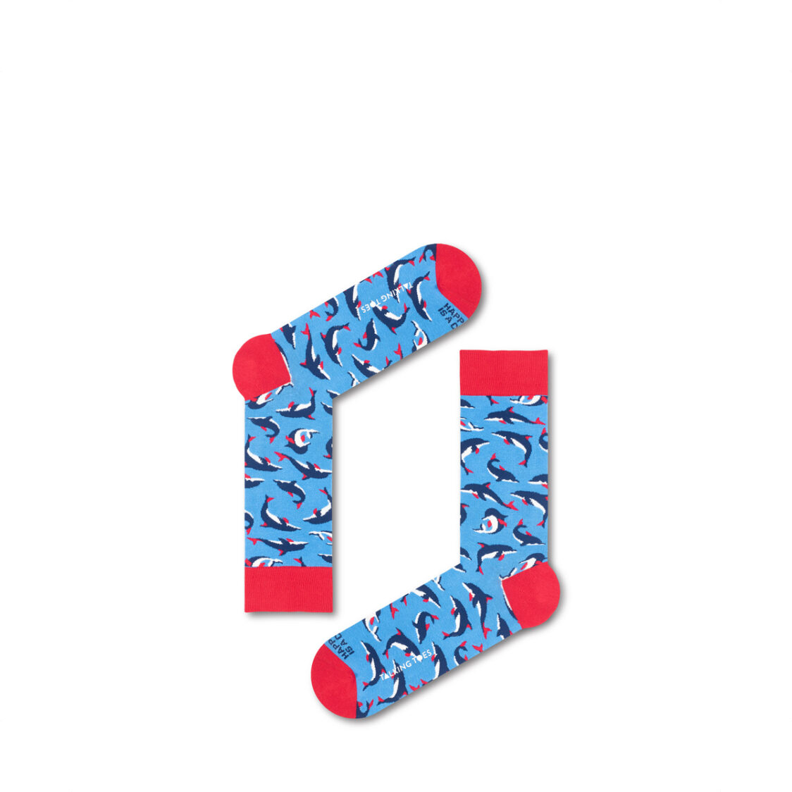 Talking Toes Happiness is a Choice Blue Dolphin Socks