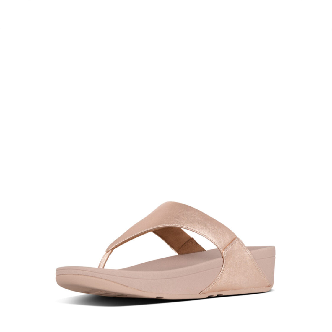 Fitflop Lulu Leather Toepost Rose Gold I88-323