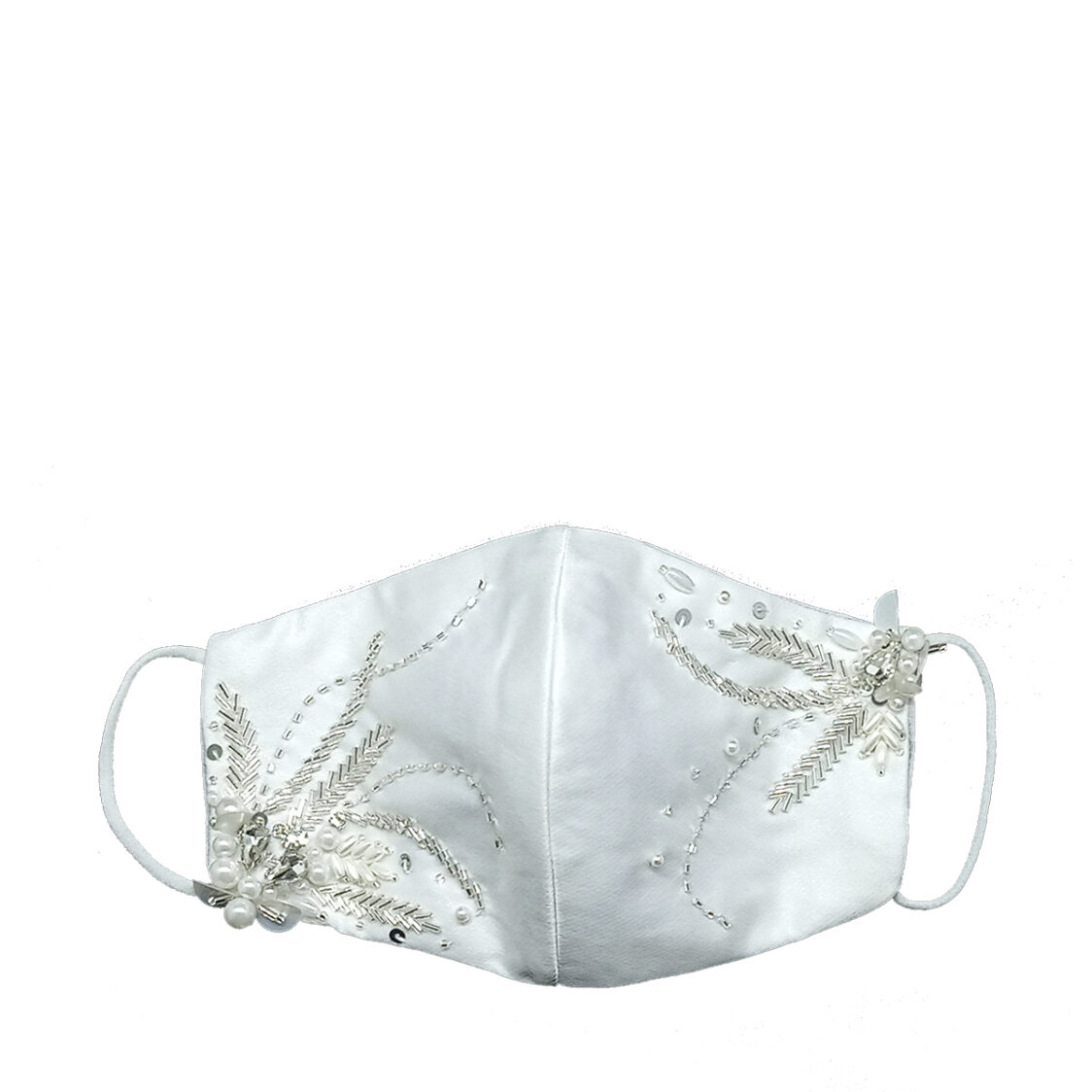 Gayatri Mask - Full Beads B White