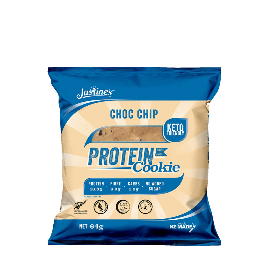 Justines Protein Cookie - Choc Chips 12 Pcs