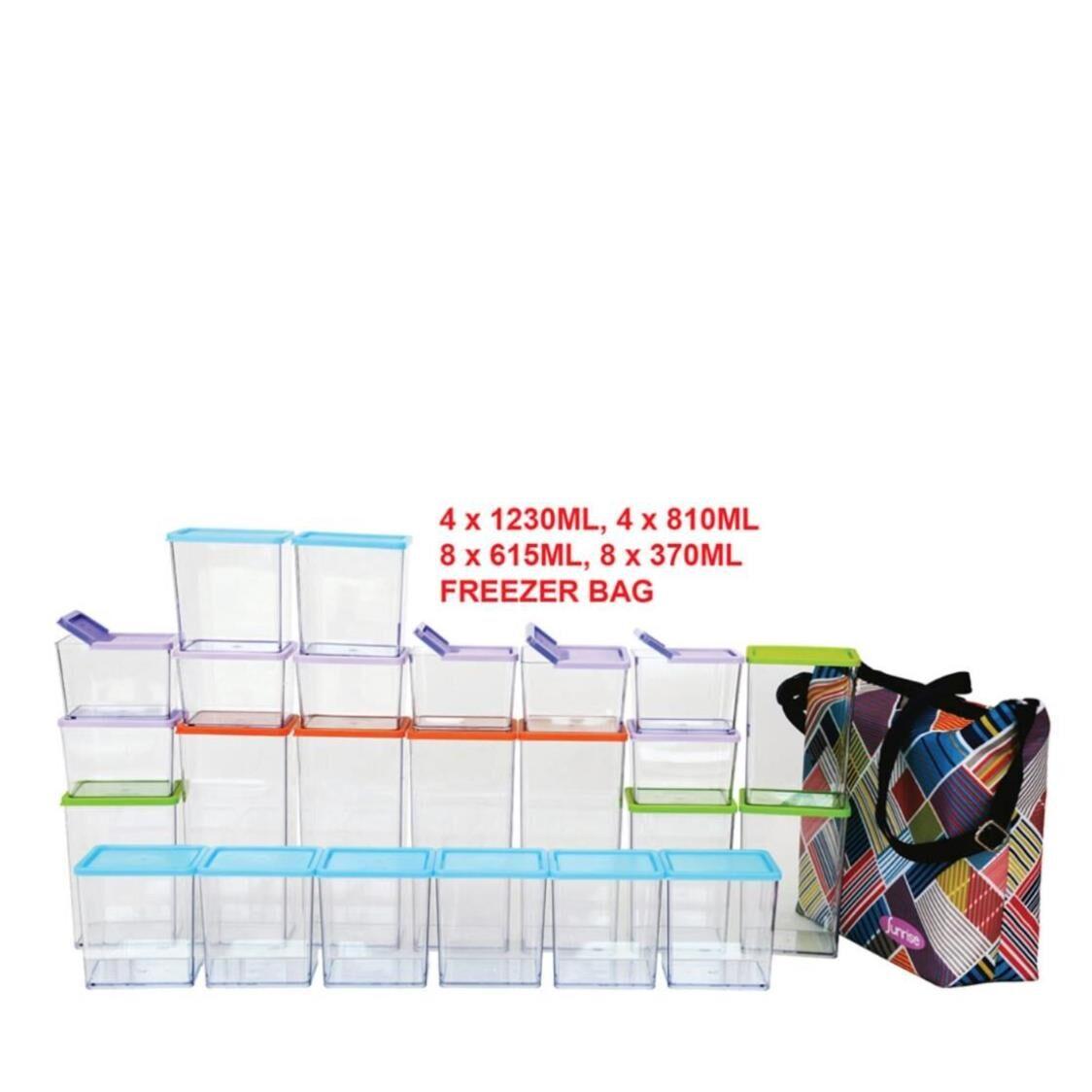 Sunrise 48pc Stackable Kitchen Organizer Set  Freezer Bag Made In Korea SPB-49