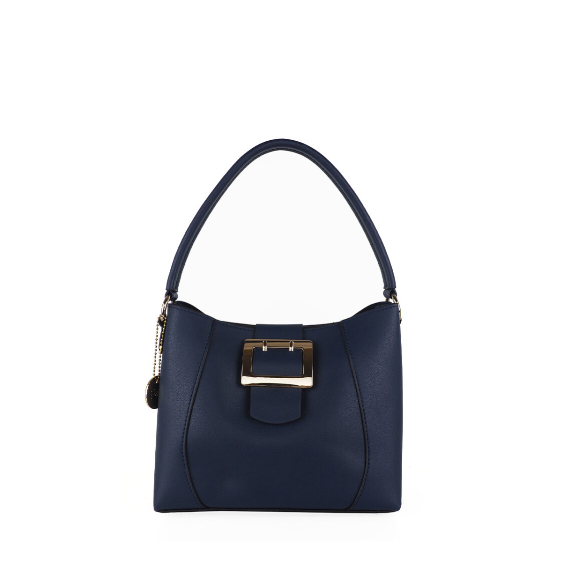 Perllini  Mel Buckle Accent Bag With Sling Strap Navy
