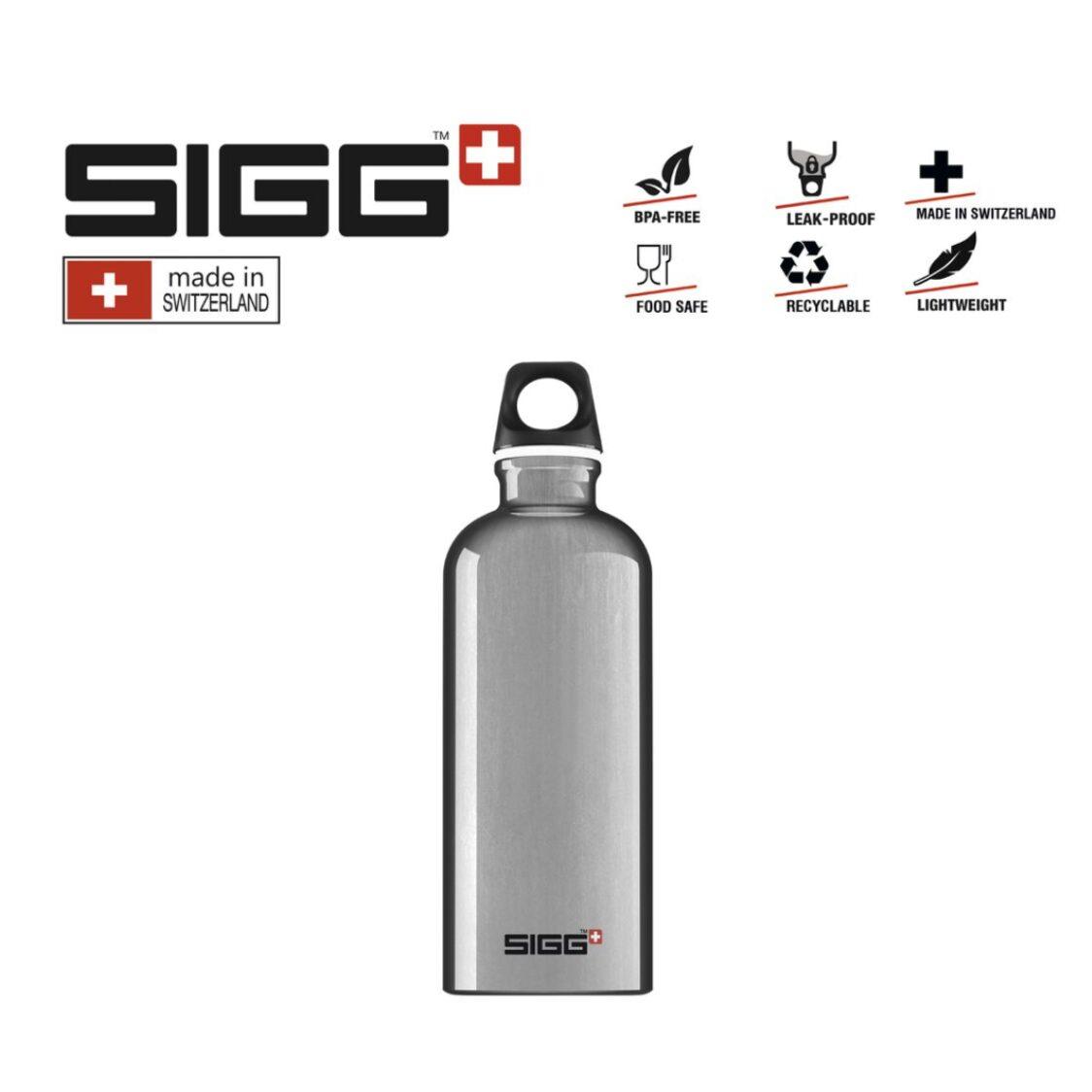 Sigg Travekker Water Bottle 600ml Alu