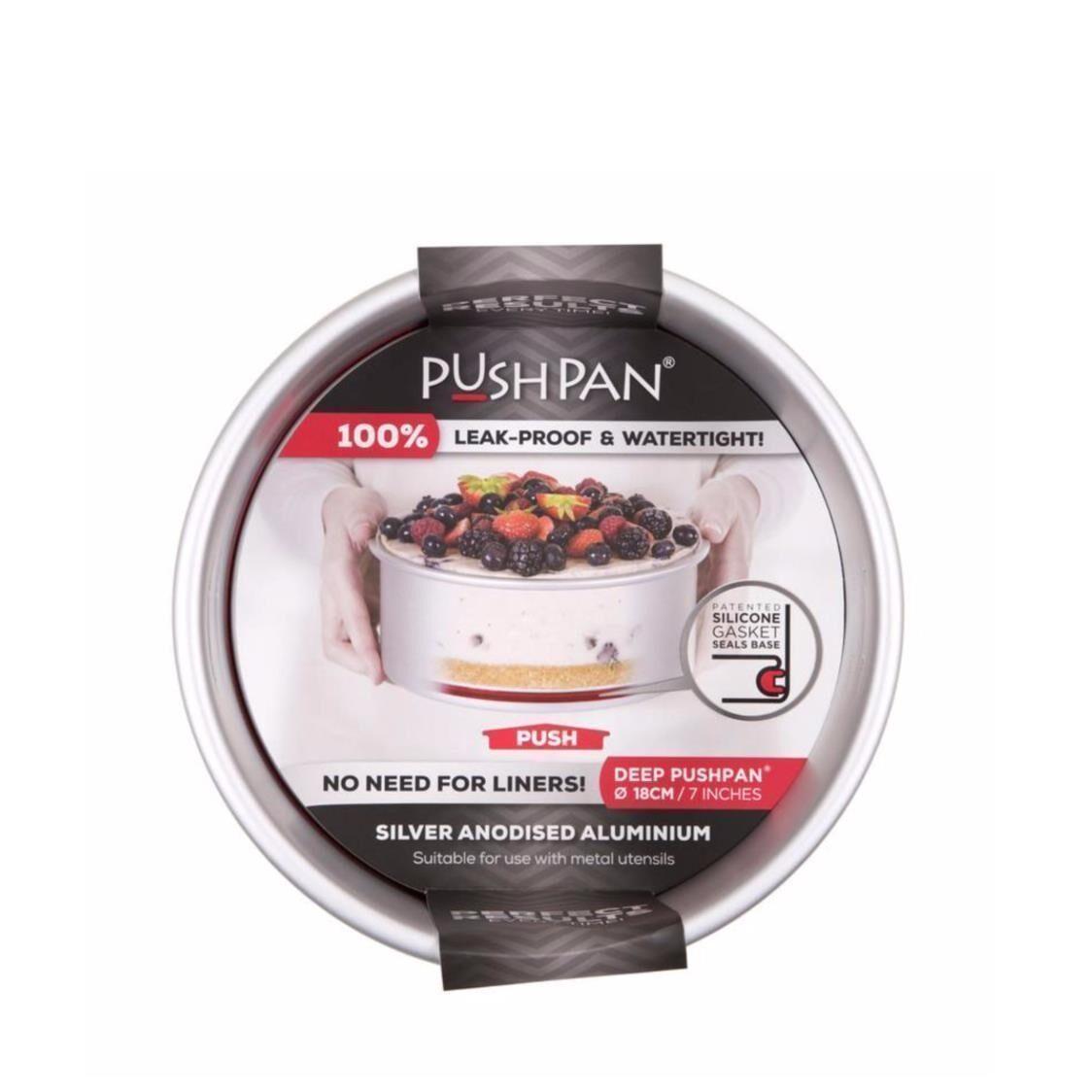 Pushpan Anodised aluminium Pushpan  Deep Round Tin 7 18cm