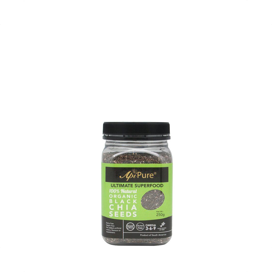 Apipure Organic Black Chia Seeds 250g