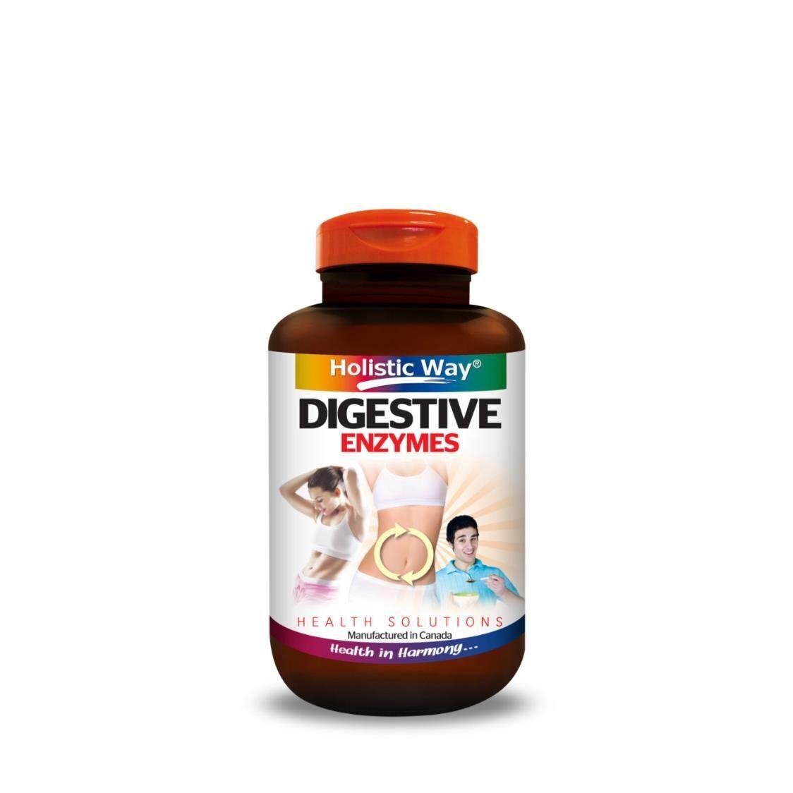 Holistic Way Digestive Enzymes 90 Vegetarian Capsules