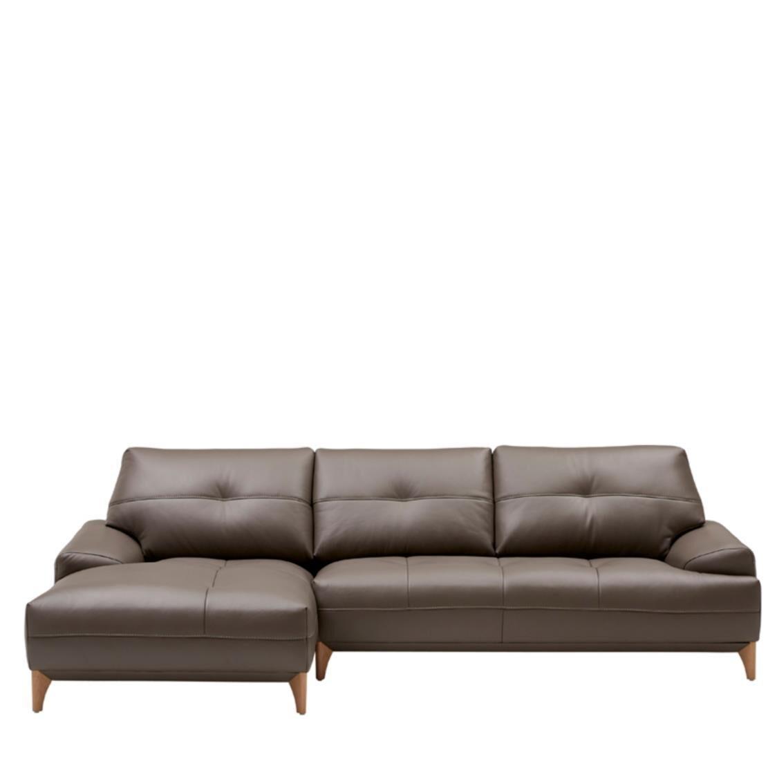 Iloom Boston Leather Couch L L392 Cocoa