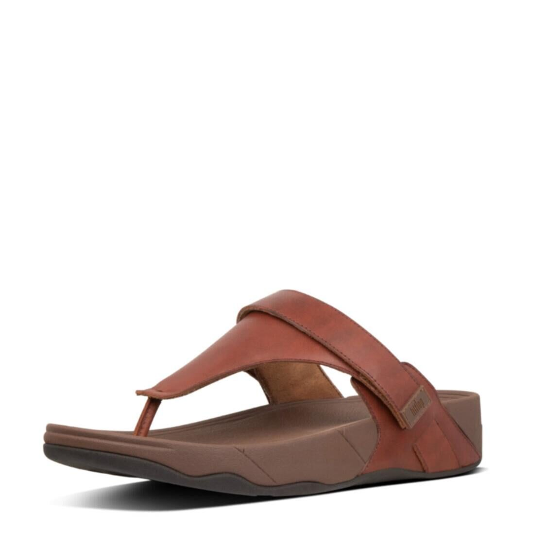Fitflop Ethan Toe Thongs Dark Red Z85-738