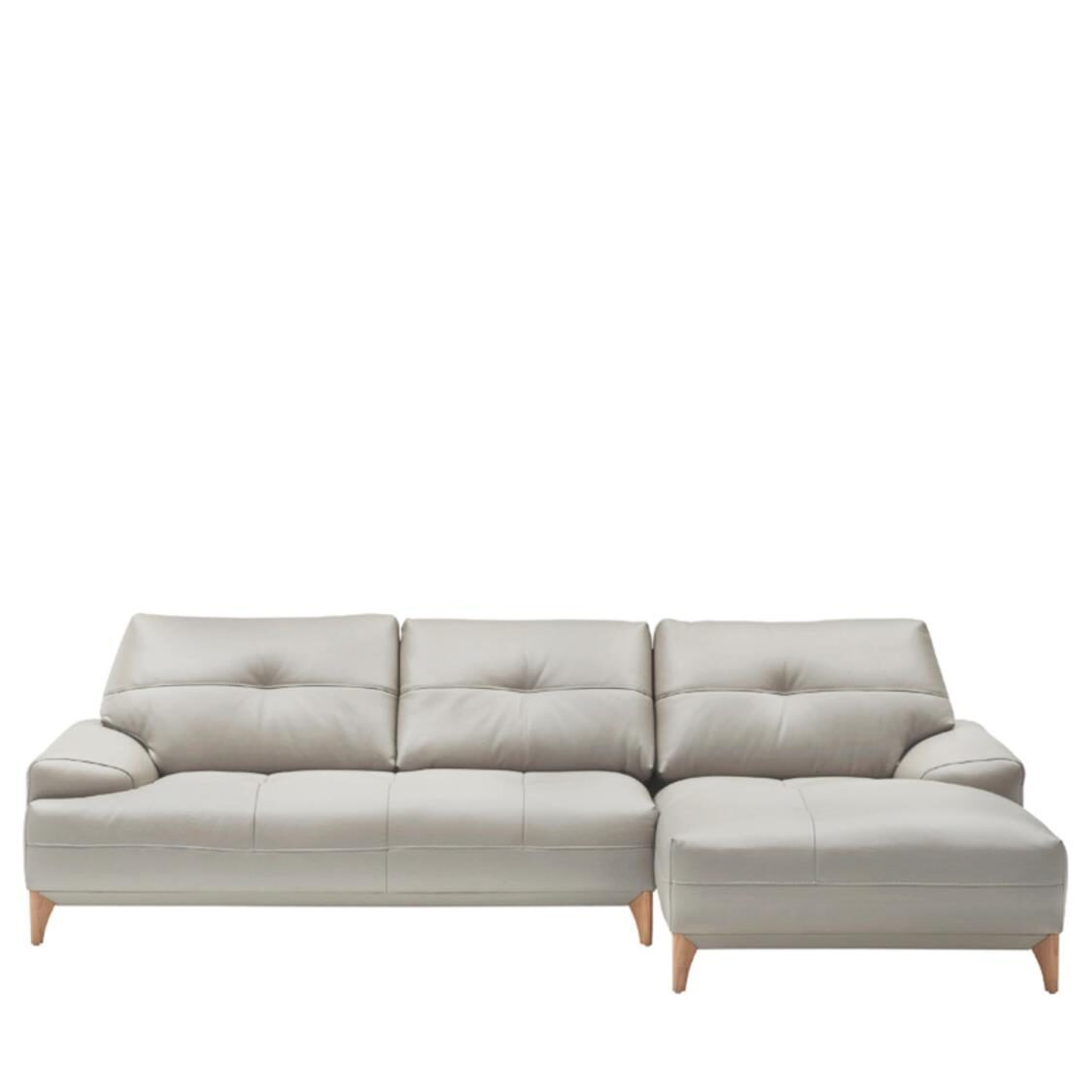 Iloom Boston Leather Couch R L391C Cloud