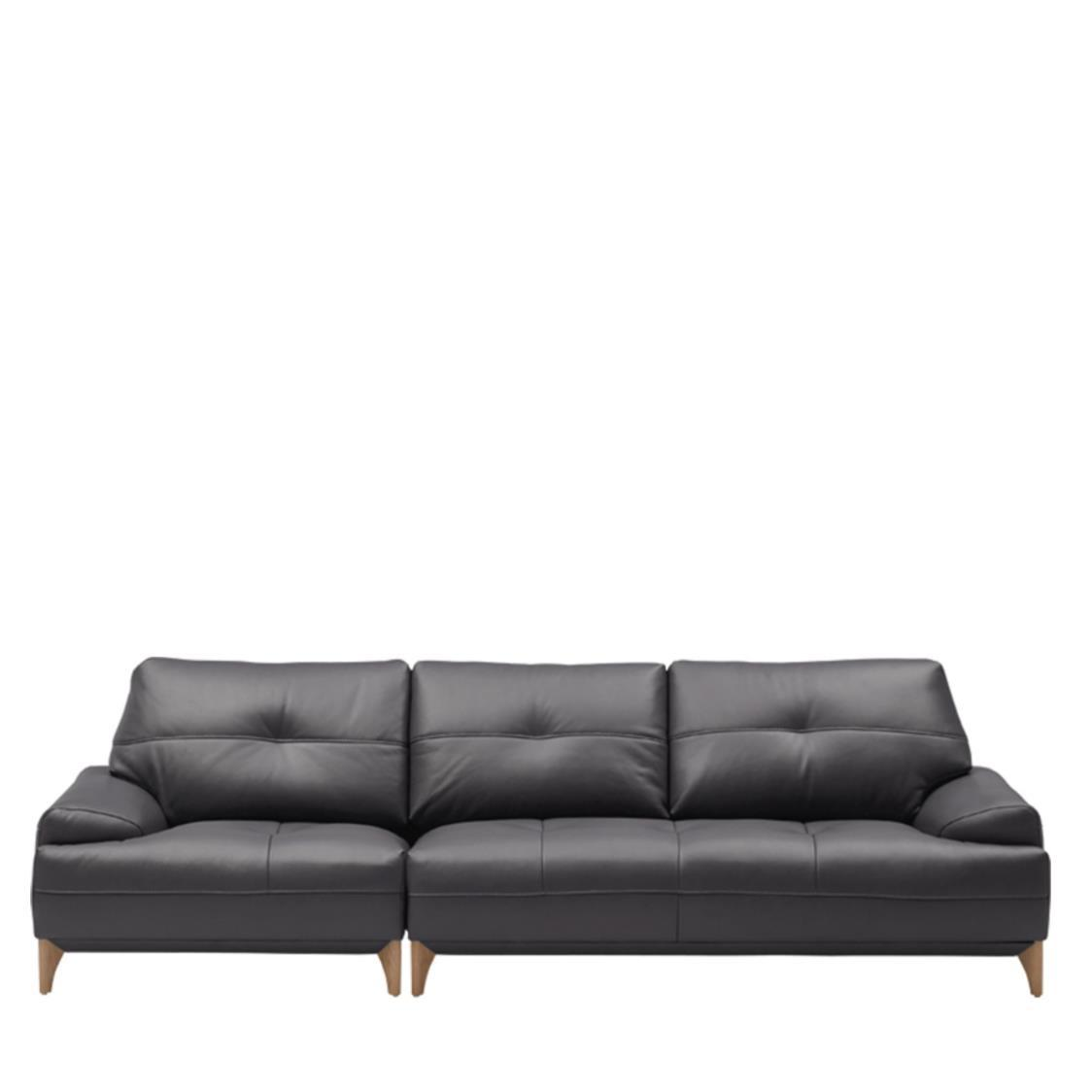 Iloom Boston Leather Sofa For 4  L391 Shadow Grey