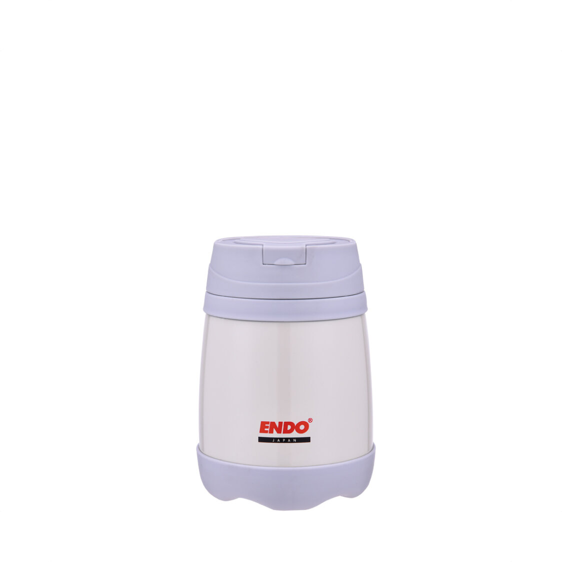 Endo 500ml Double SSteel Food Jar Pearl White