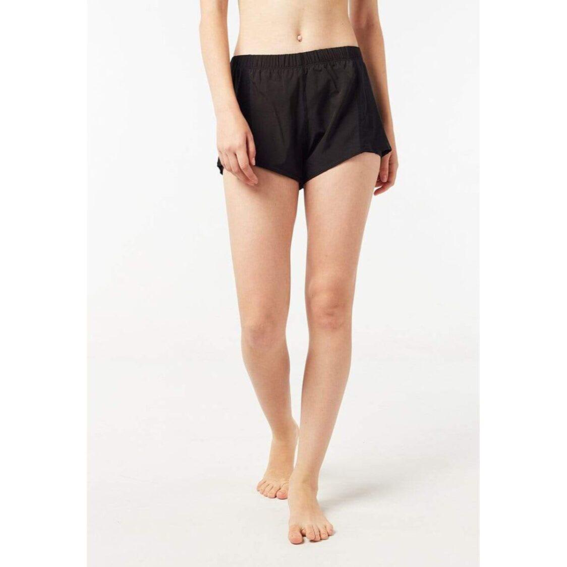 Funfit Overlay Side Mesh Shorts in Black