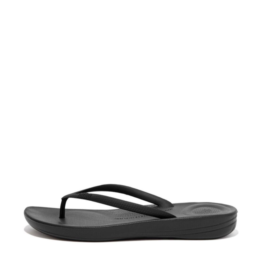Fitflop Iqushion Ergonomic Flip Flops All Black E54-090